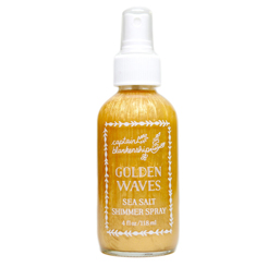 Golden waves spray