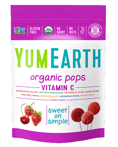 Organic Assorted Flavors Vitamin C Lollipops