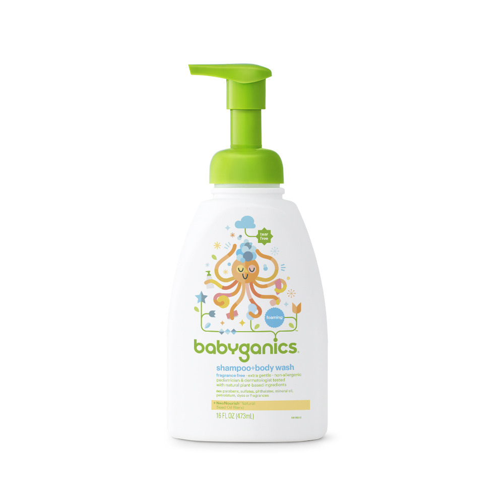 shampoo + body wash, fragrance free - BabyGanics