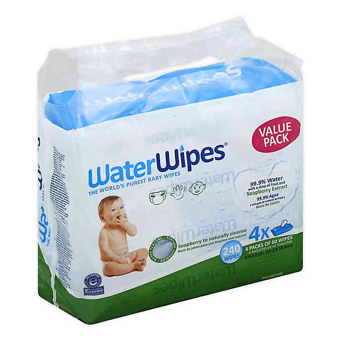 Water Wipes Soapberry Extract (240 wipes - 4 Packs)